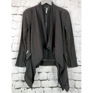 MONORENO Lagenlook Layered Open Front Jacket